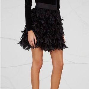 Alice and Olivia | Cina feather mini skirt